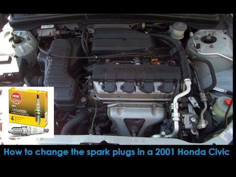 2001 Honda Civic 7th Gen: How to change the spark plugs - With Channel update