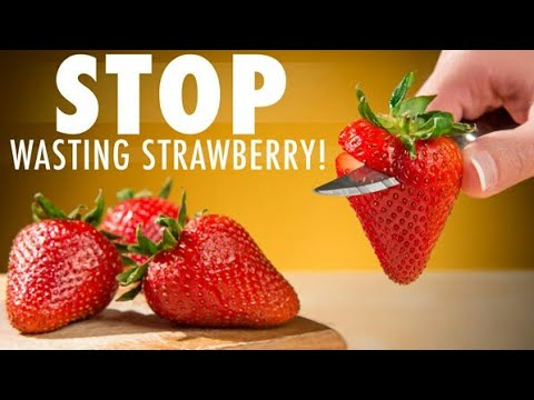 Kitchen hack : how to cut strawberries 🍓