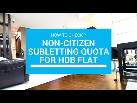 How to check the Subletting/Renting quota for HDB Flat in Singapore