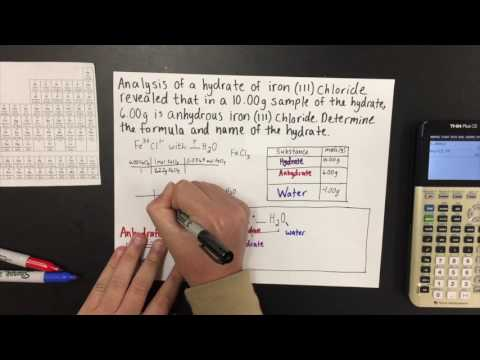 How to Calculate the Empirical Formula of a Hydrate