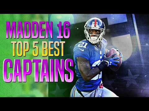 Madden 16 - Top 5 Captains in MUT!