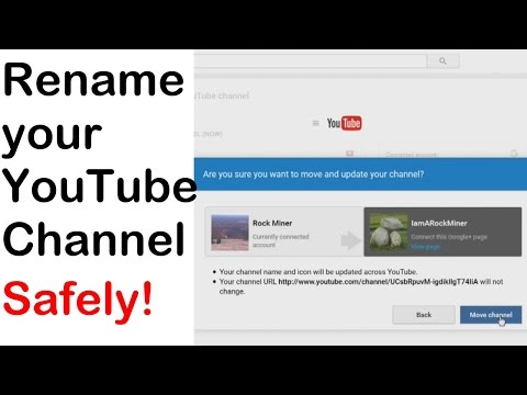 Rename your YouTube Channel and keep your Subscribers and other data - Complete How-To (2016)