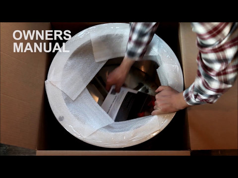 Unwrapping Your New Double Flame Fire Pit!