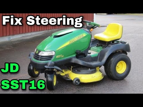 How To Fix The Steering On A John Deere SST16 Riding Mower (Actuator Steering) - with Taryl