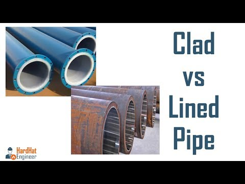 What is Difference between Clad and lined pipe? Clad Vs Lined Pipe- Piping Training Video-7