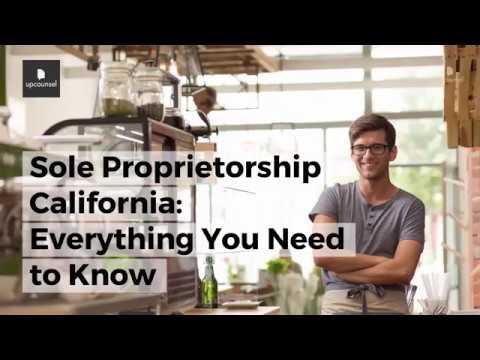 Sole Proprietorship California: Everything You Need to Know