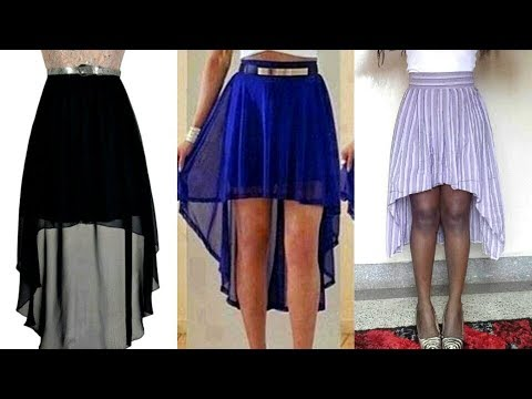 D.I.Y How To Make A  High Low Skirt In One Minute