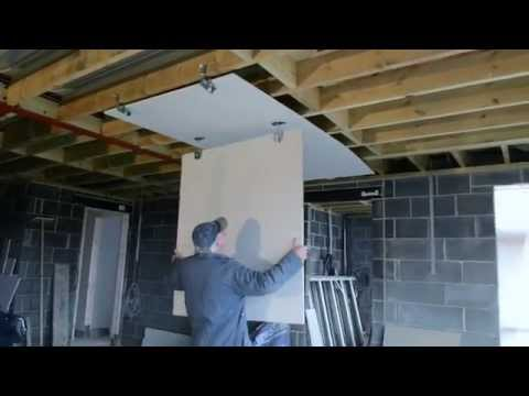 How to Fit Plasterboard to an Existing Ceiling. Double Boarding a Plaster Board Drywall Ceiling