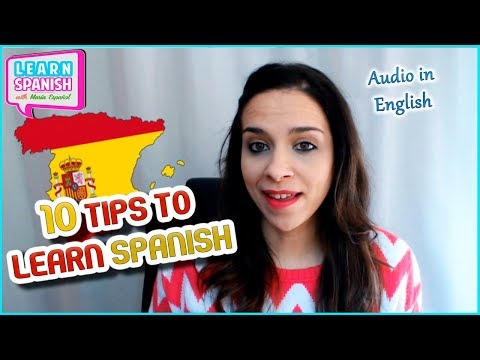 10 TIPS to LEARN SPANISH (Version in English) || Maria Español