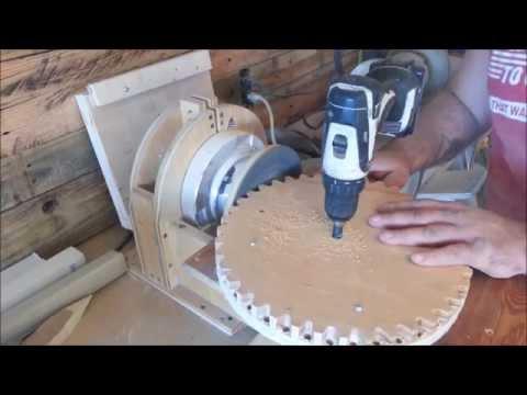 Build a wood gears yard broom!