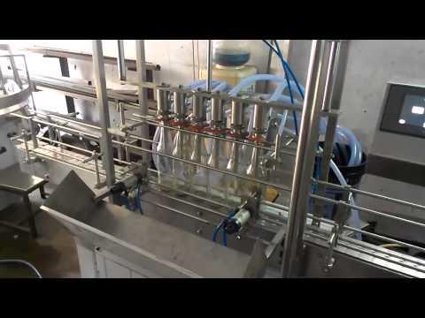 Bottle Vacuum filling machine , Overflow Filler for Glass bottle