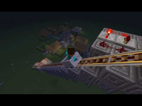 Minecraft Tutorial - EP1 - Slow ride on booster rails! HD!