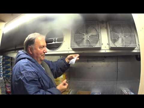 Refrigeration evaporator fan motor change on a walk in cooler