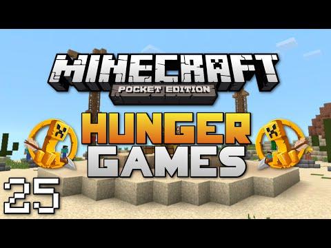 Minecraft: Pocket Edition Hunger Games #25   Split Controls Challenge