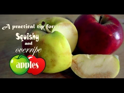 What to do with squishy and overripe apples?