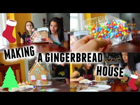 MAKING A GINGERBREAD HOUSE! With Emelyd
