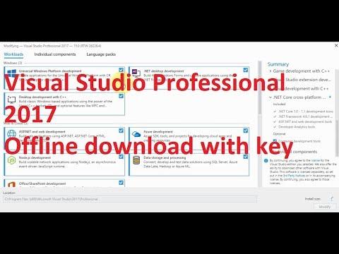Download Visual Studio Professional 2017 full Offline rar with key