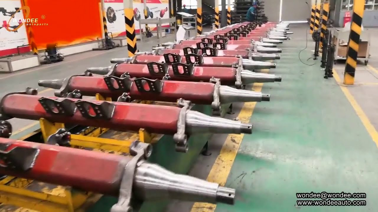 How to make and manufacture semi trailer axle and truck axle ?---WONDEE Autoparts 202002