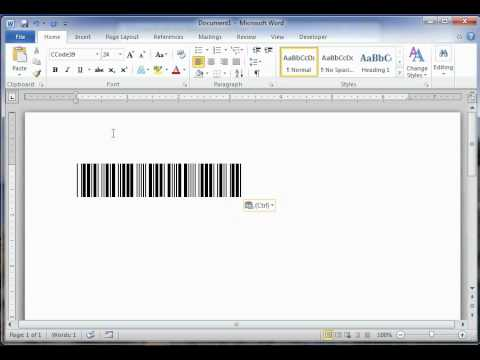How to create a barcode in Word for free?