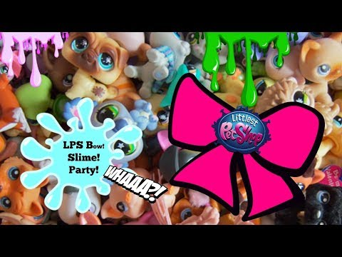 LPS Party time! DIY Littlest Pet Shop hairbow/ fixing floam slime