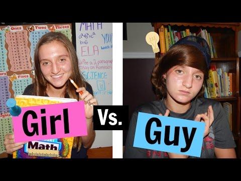 Back To School Girl Vs. Guy