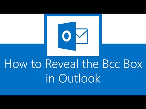 How to Reveal the Bcc Box in Outlook
