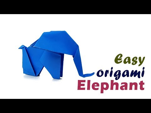 How To Make An Origami 🐘 Elephant 🐘 Animal Origami- Origami Elephant  tutorial for beginner & kid