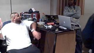Steve Lobel at We The Best Studios with DJ Khaled, Nipsey Hussle, Mann and the Runners