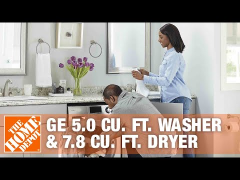 GE 5.0 Cu. Ft. Washer & 7.8 Cu. Ft. Dryer