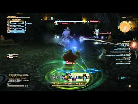 Final Fantasy XIV PS4 Beta Healing in Dungeon