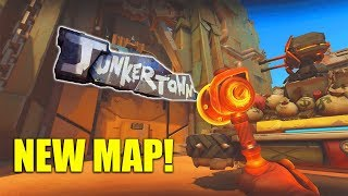 NEW MAP! Junkertown Gameplay [Overwatch]