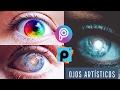 Como Hacer OjOS GALAXIA  y ojos ARCO IRIS - PicsArt Tutorial