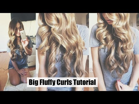 How To Big Fluffy Curls Tutorial ft. Luxury For Princess Extensions | HAUSOFCOLOR