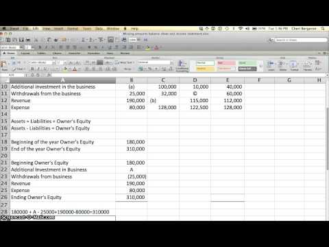 Missing numbers in financial statements