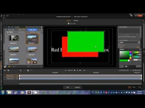 Pinnacle Studio 16,17,18 -   How to draw transparent box with red border