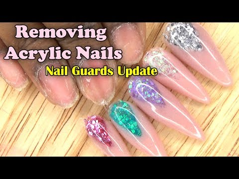 Removing Acrylic Nails | Nail Guards Update | LongHairPrettyNails