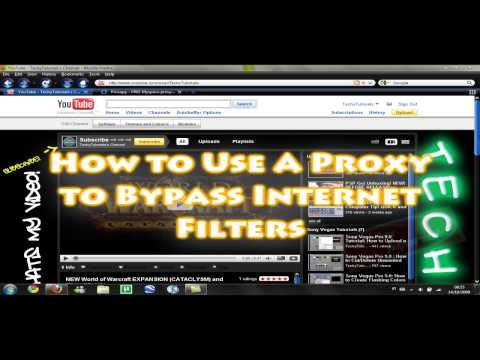 How to Get Passed Internet / School Filters! Learn how to use a PROXY!