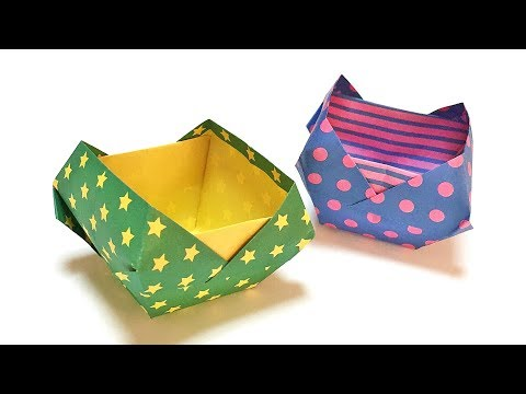 Cute Origami Box Tutorial | How to Make a Paper Accessory Case Without Glue and Scissors