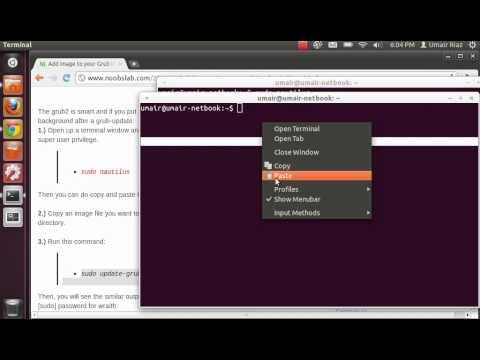 Add Image to your Grub Ubuntu/Linux Mint