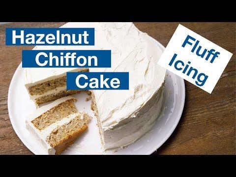 Hazelnut Chiffon Cake With Marshmallow Fluff Icing Recipe || Le Gourmet TV Recipes