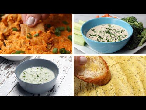 Vegan Dips 4 Ways