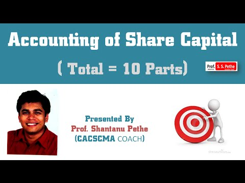 Accounts = Accounting of Share Capital # Part 1