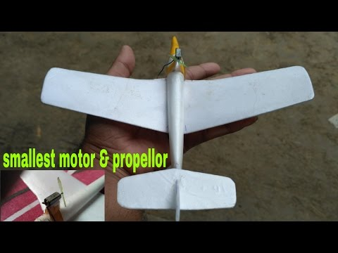 Homemade micro rc plane.2mm motor.18mm propellor. (India)