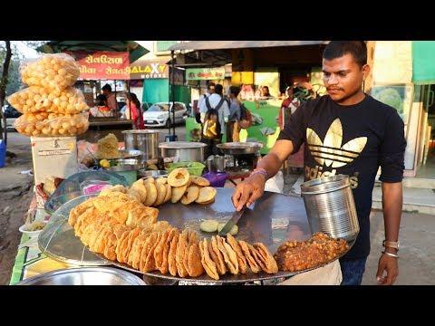 DELHI CHAAT MADE WITH DESI GHEE | Ragda Patties and Kachori Chaat | Indian Street Food