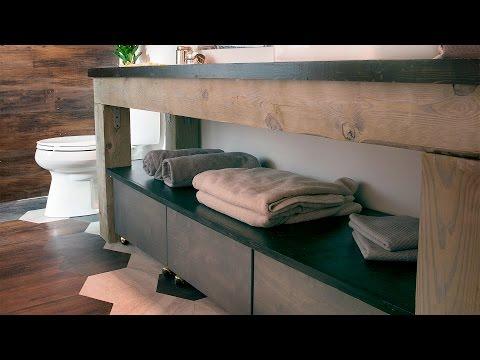DIY Wood Vanity by East Coast Creative