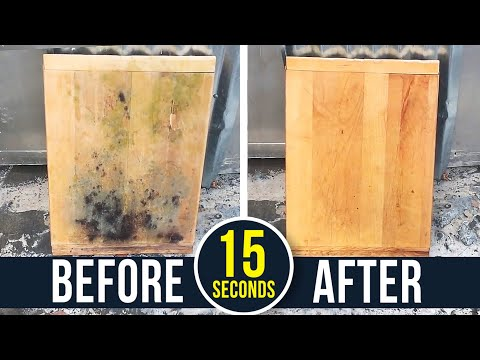How to remove black toxic mold from wood !