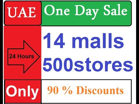 Dubai Shopping one day sale  90% off  14 malls  500 stores top discount sale