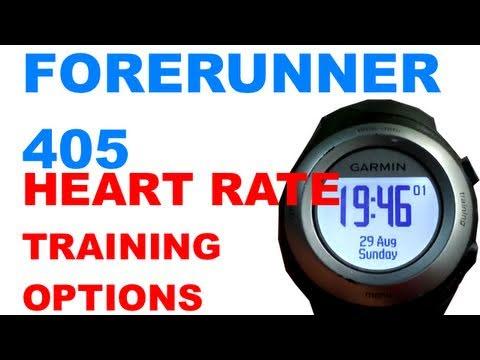 Heart Rate Training Options Garmin Forerunner 405 / 410
