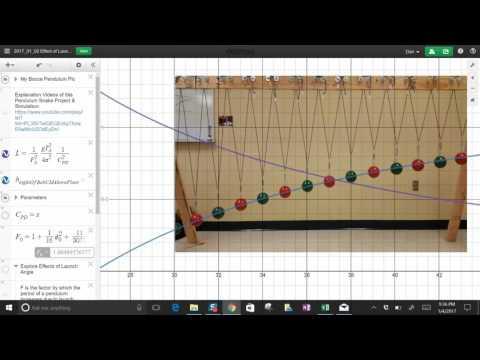 Pendulum Snake Desmos Simulation / Wave Machine