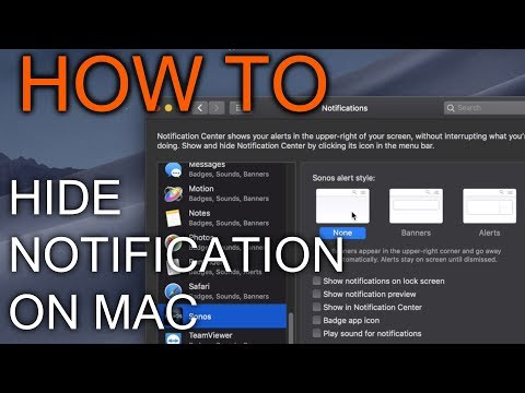 How to Hide Notification on Mac OS